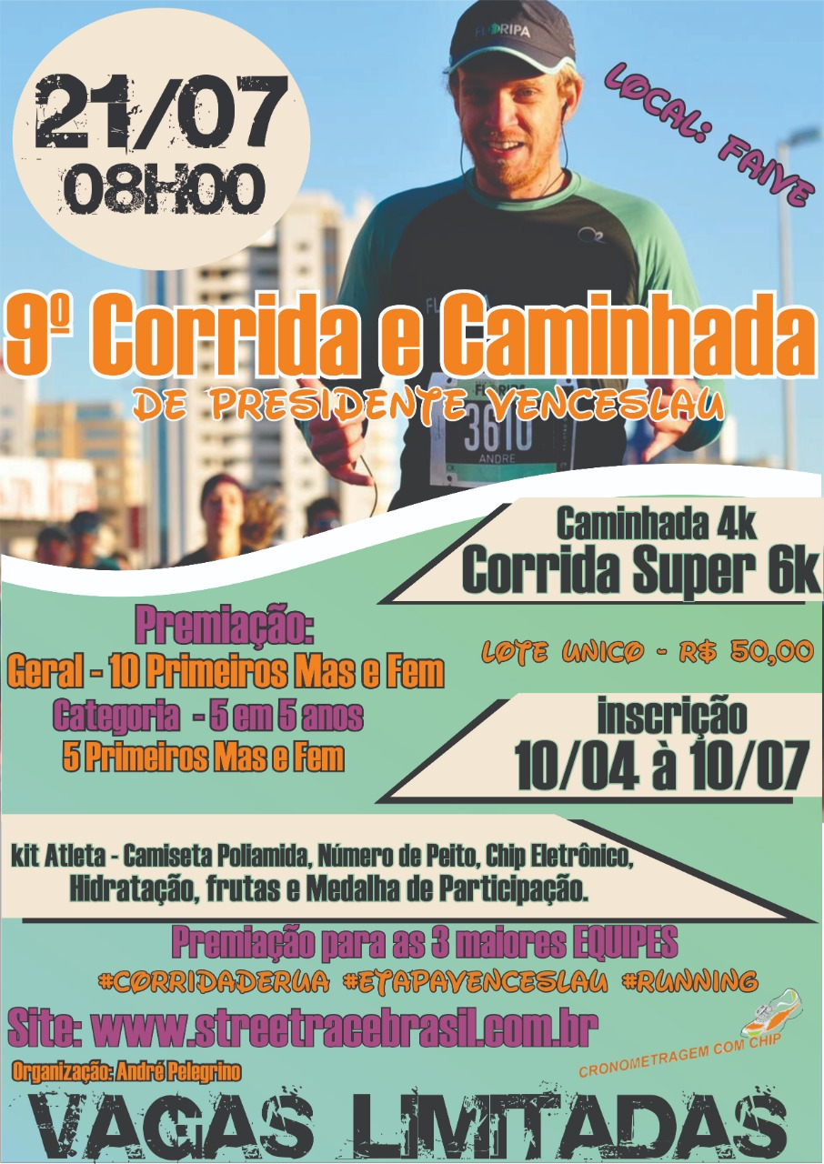 9ª CORRIDA  DE PRESIDENTE VENCESLAU