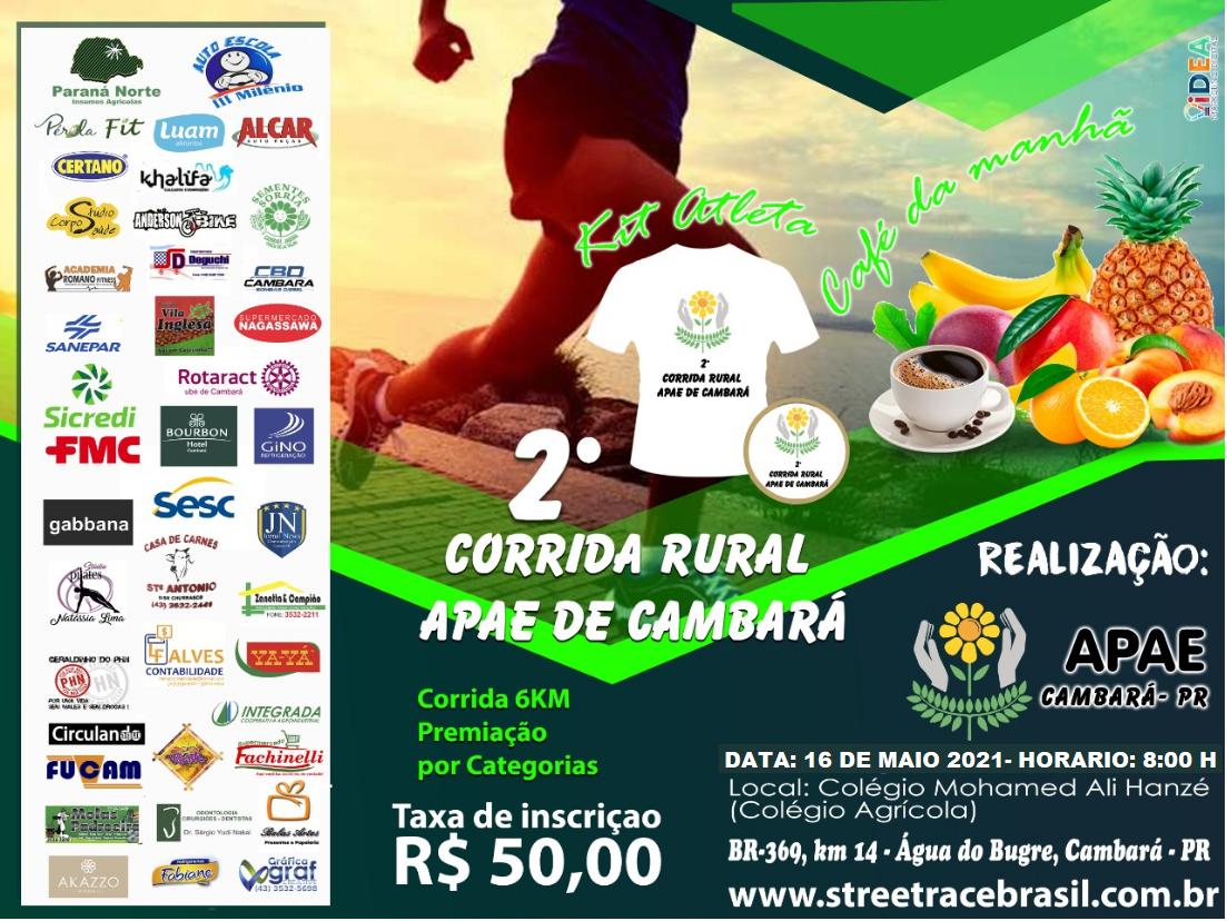 2º CORRIDA RURAL APAE DE CAMBARÁ