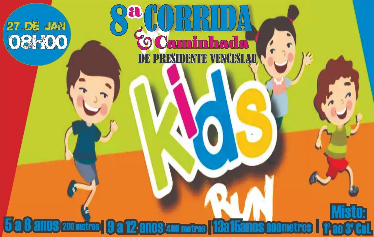 8ª CORRIDA KIDS DE PRESIDENTE VENCESLAU