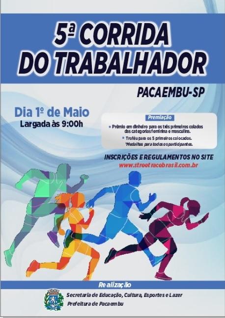5º CORRIDA  DO TRABALHADOR DE PACAEMBU