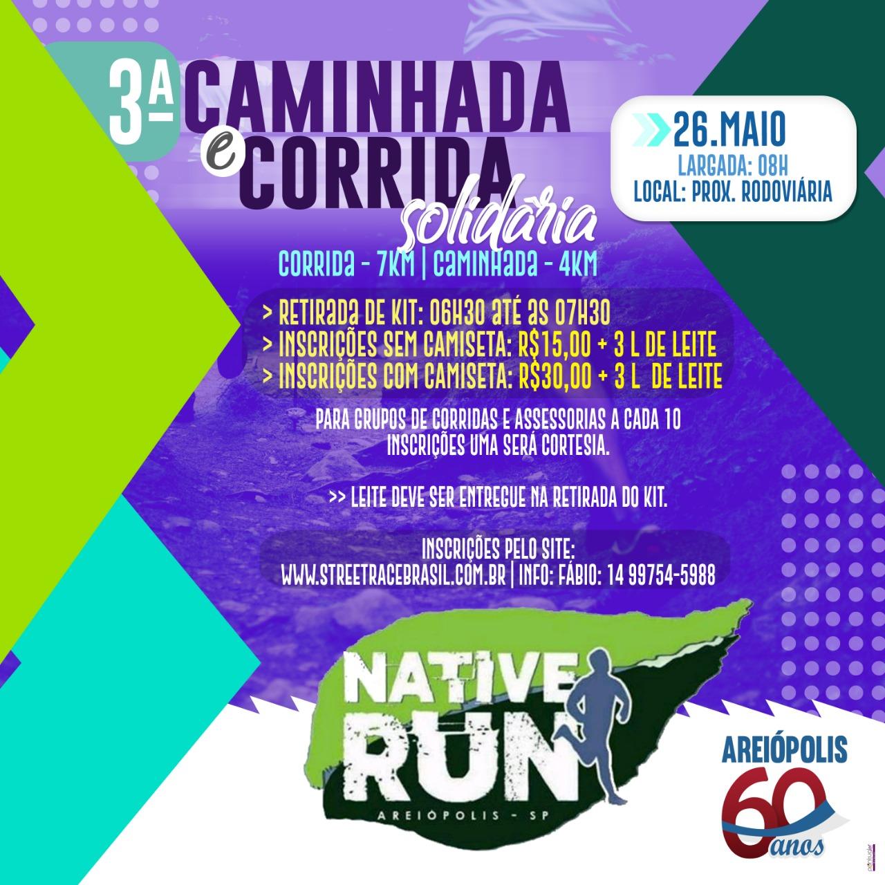 3ª CAMINHADA E CORRIDA SOLIDARIA