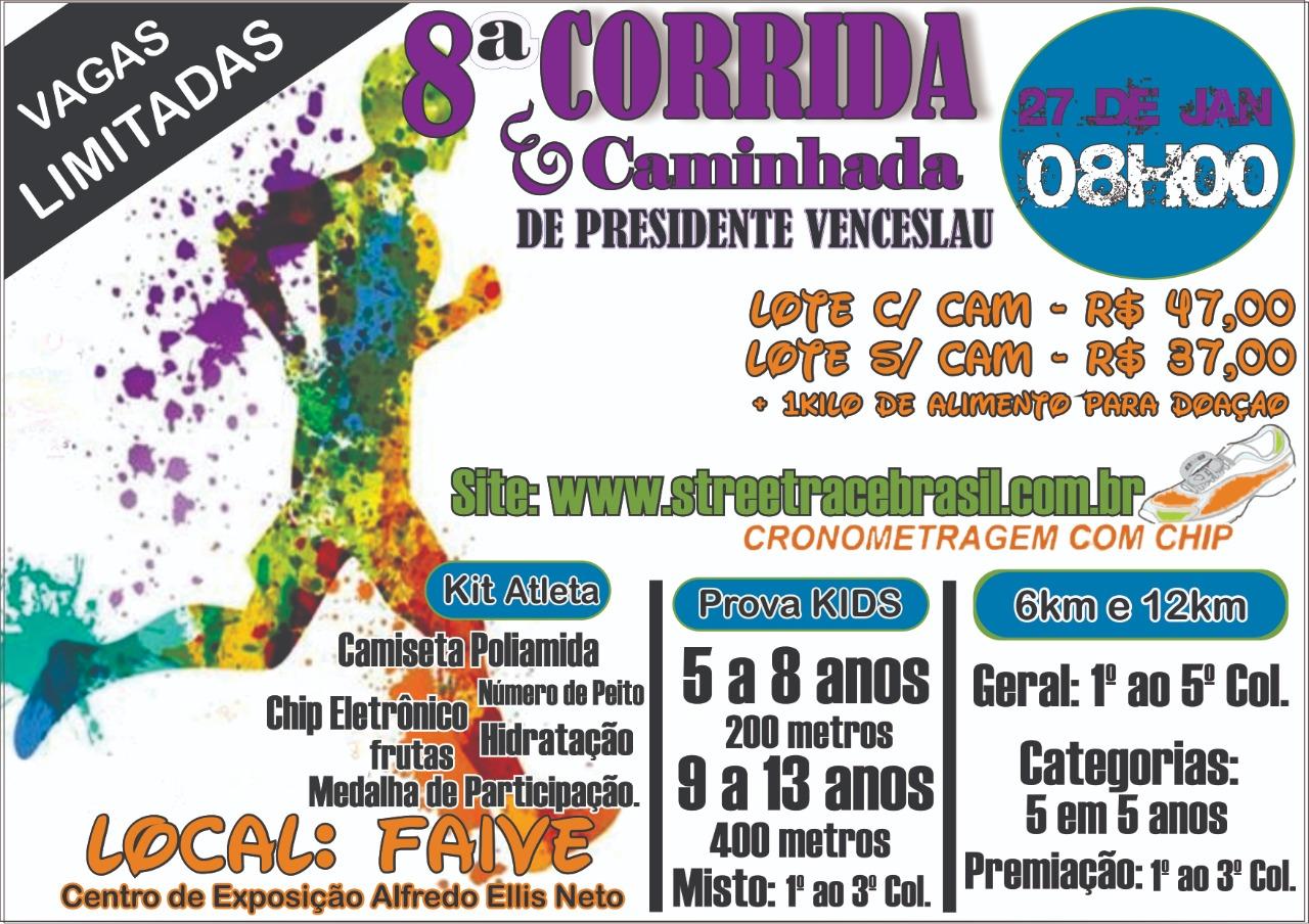 8ª CORRIDA E CAMINHADA P. VENCESLAU