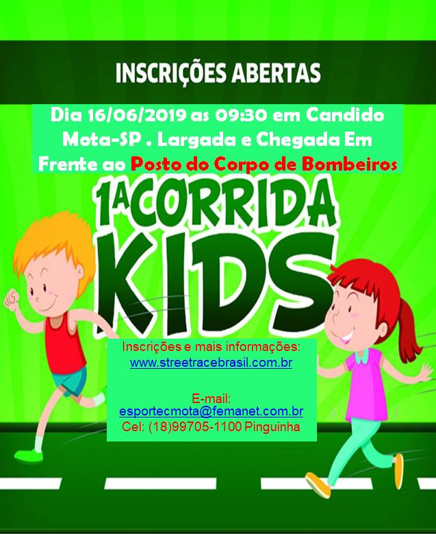 1ª CORRIDA KIDS DE CÂNDIDO MOTA