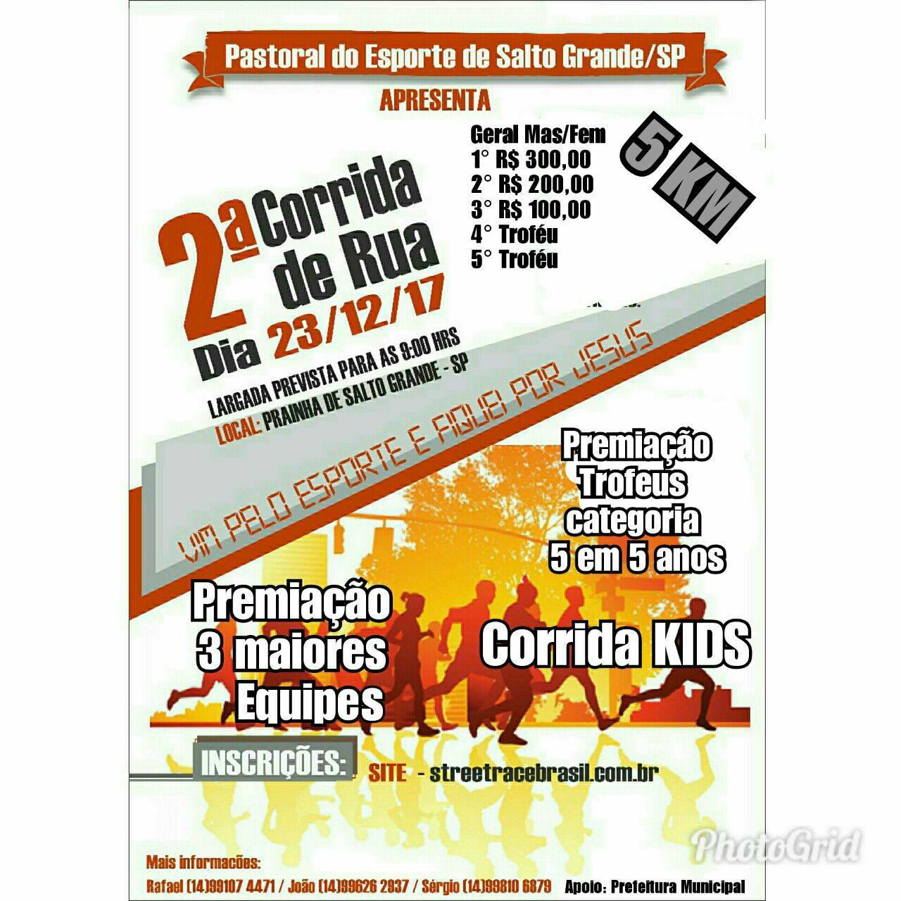 2ª CORRIDA PASTORAL DO ESPORTE DE SALTO GRANDE