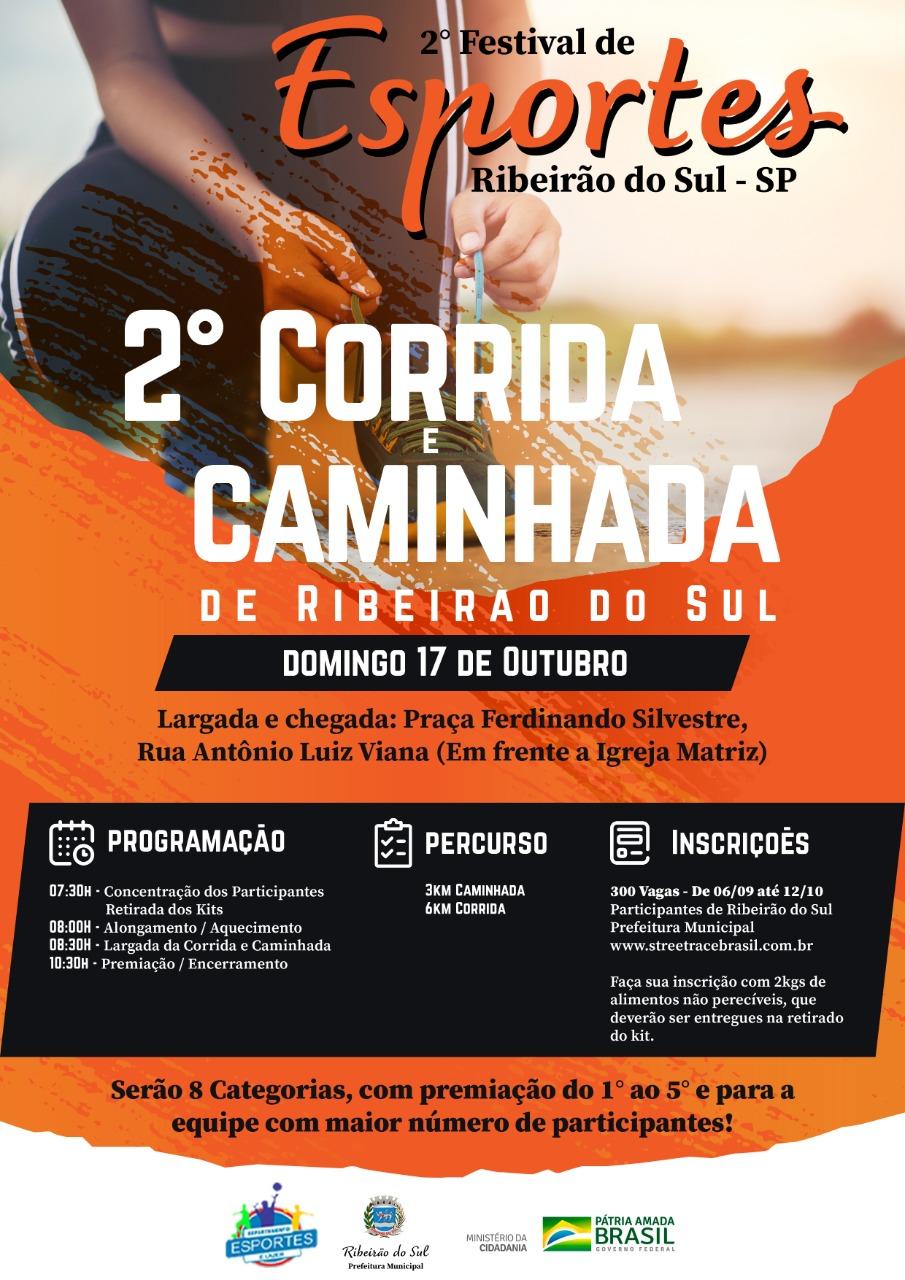 2ª CORRIDA PEDESTRE DE RIBEIRÃO DO SUL