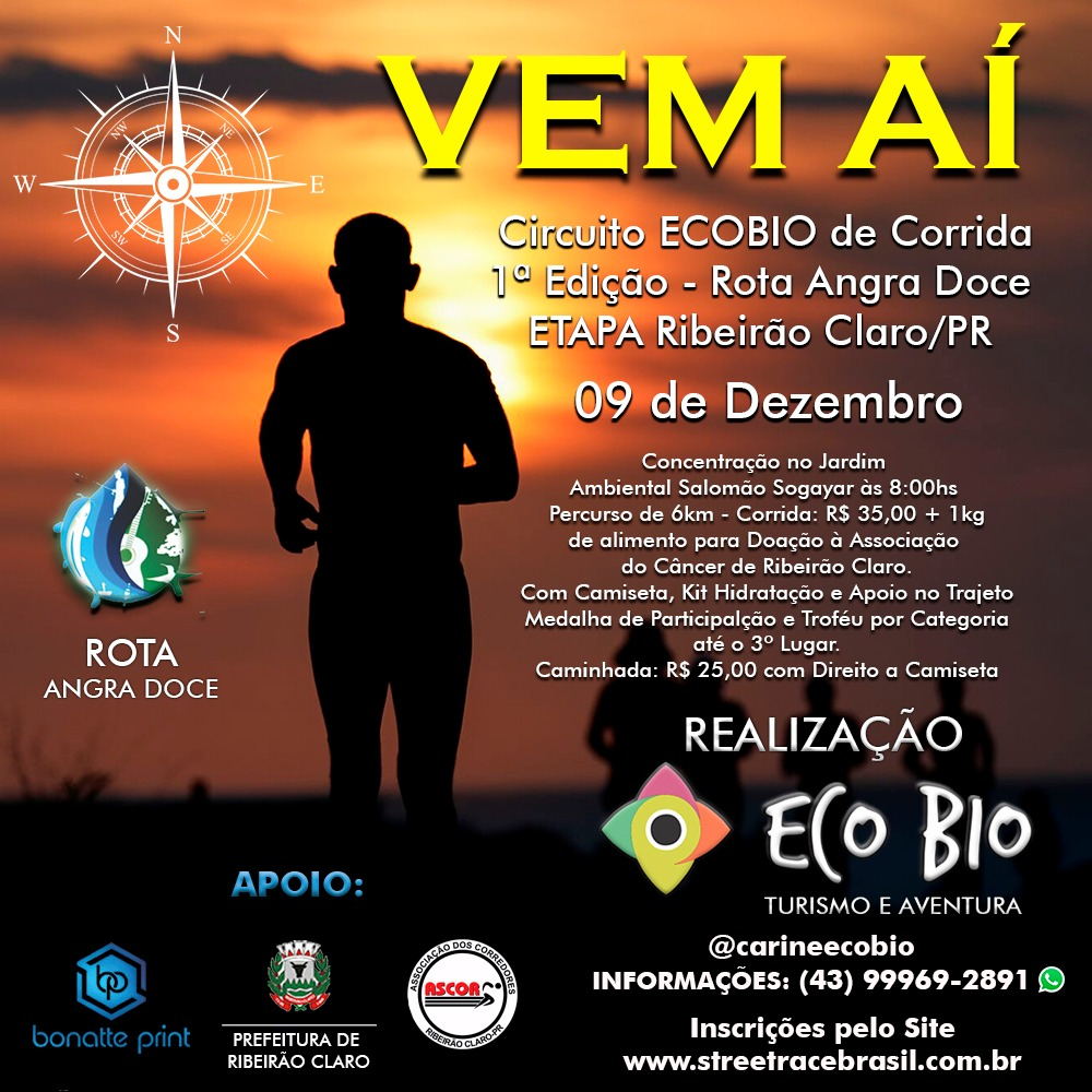 CIRCUITO ECOBIO DE CORRIDA E CAMINHADA