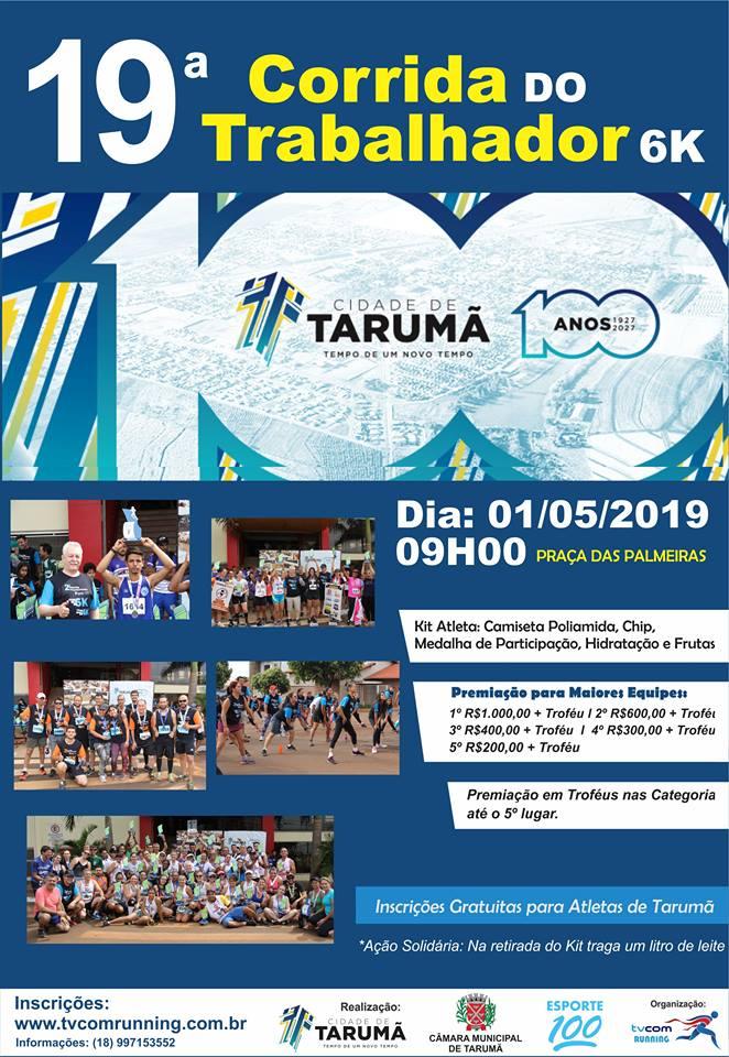 19ª CORRIDA PEDESTRE DO TRABALHADOR DE TARUMÃ