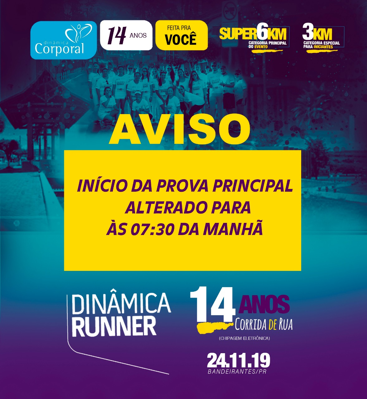 14ª CORRIDA DINÂMICA RUNNER