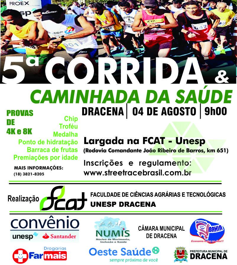 """5º CORRIDA E CAMINHADA DA SAÚDE DA """"FCAT UNESP"""""""