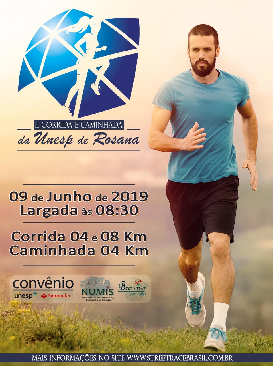 2ª CORRIDA E CAMINHADA UNESP DE ROSANA -SP