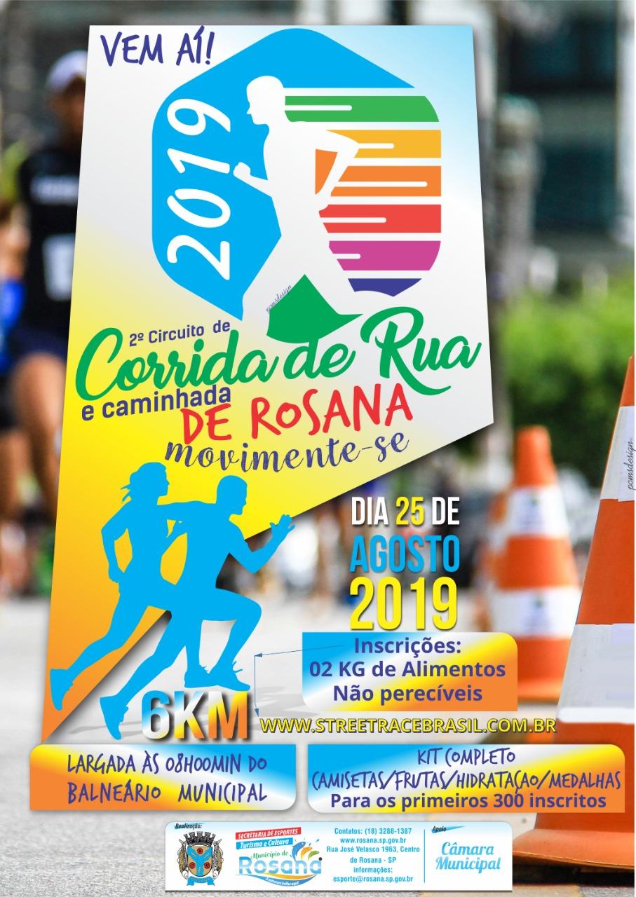 2º  CORRIDA DE RUA DE  ROSANA