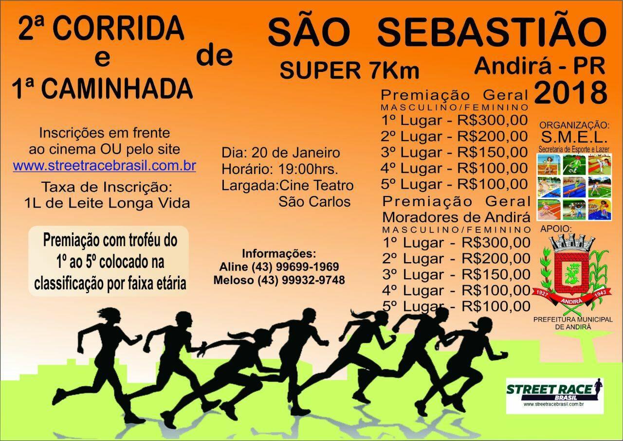 2ª CORRIDA DE SÃO SEBASTIÃO DE ANDIRÁ