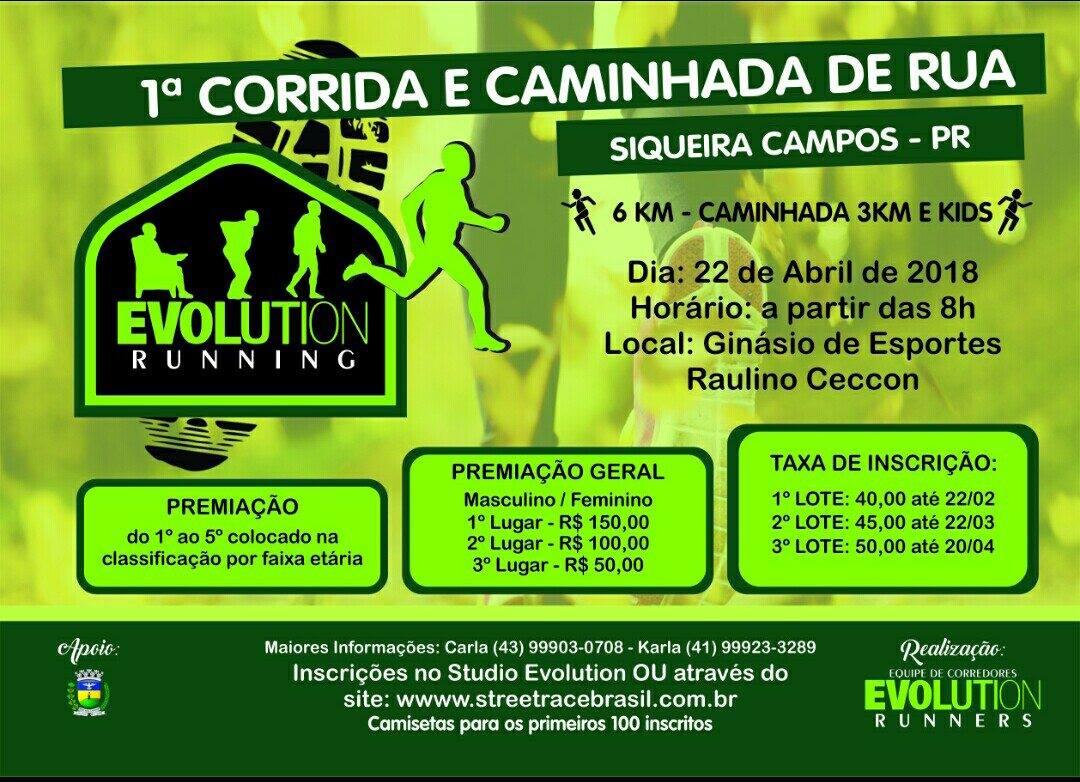 1ª CORRIDA & CAMINHADA DE SIQUEIRA CAMPOS-PR