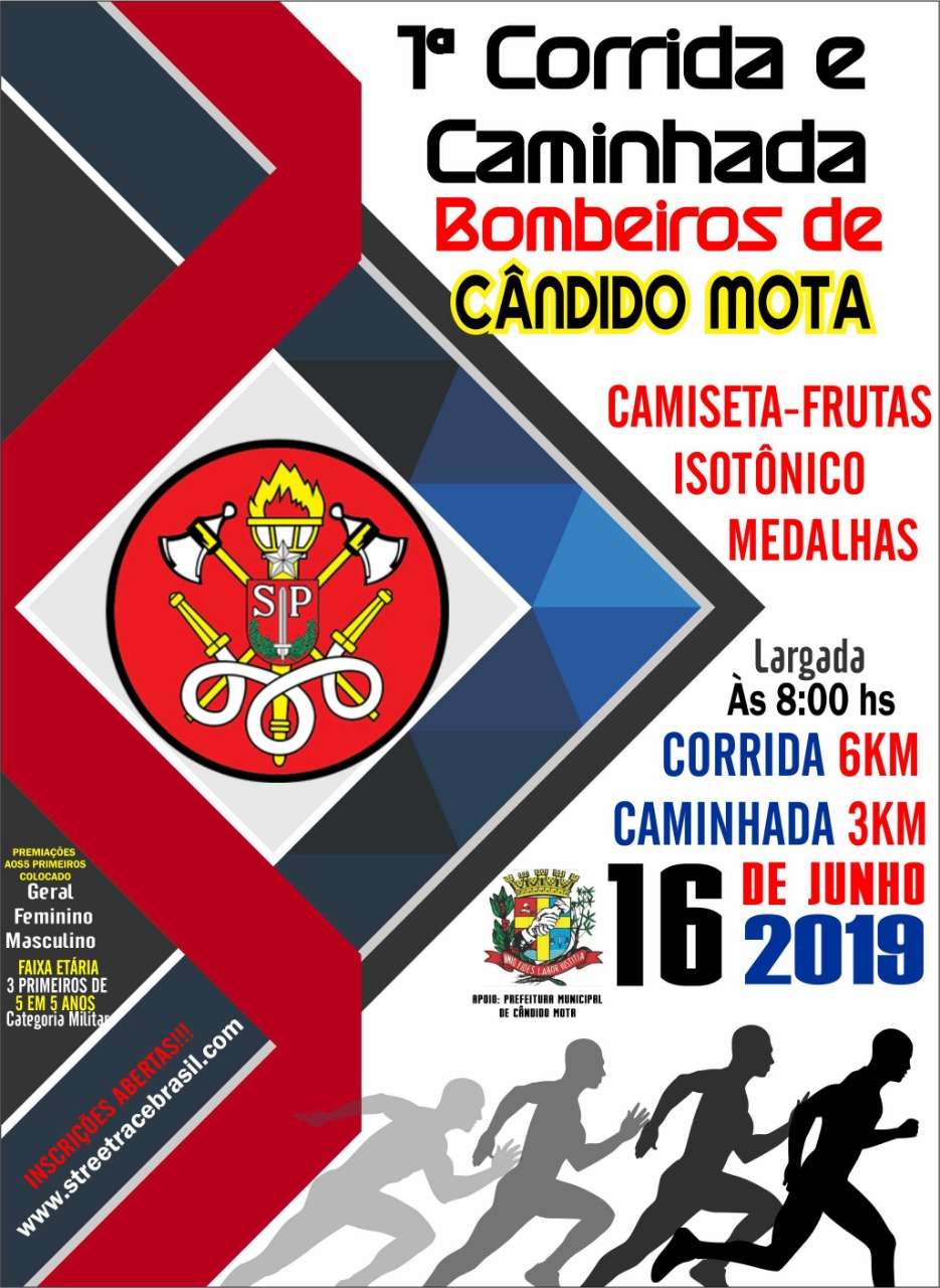 1ª CORRIDA & CAMINHADA BOMBEIROS CÂNDIDO MOTA