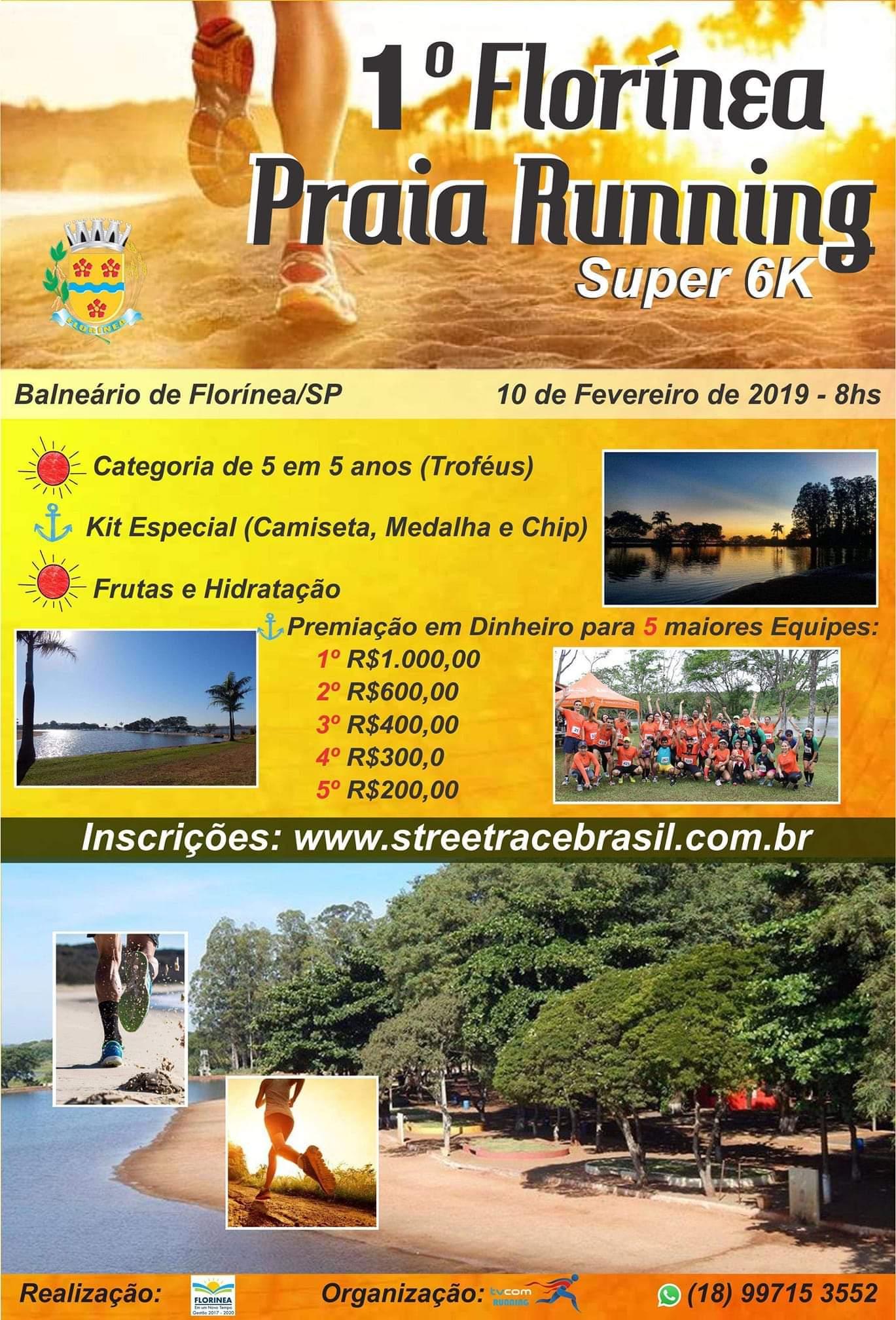 1ª FLORÍNEA PRAIA RUNNING