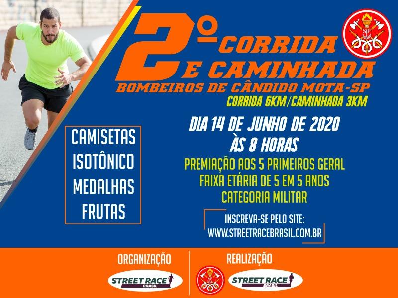 2° CORRIDA E CAMINHADA BOMBEIROS DE CANDIDO MOTA