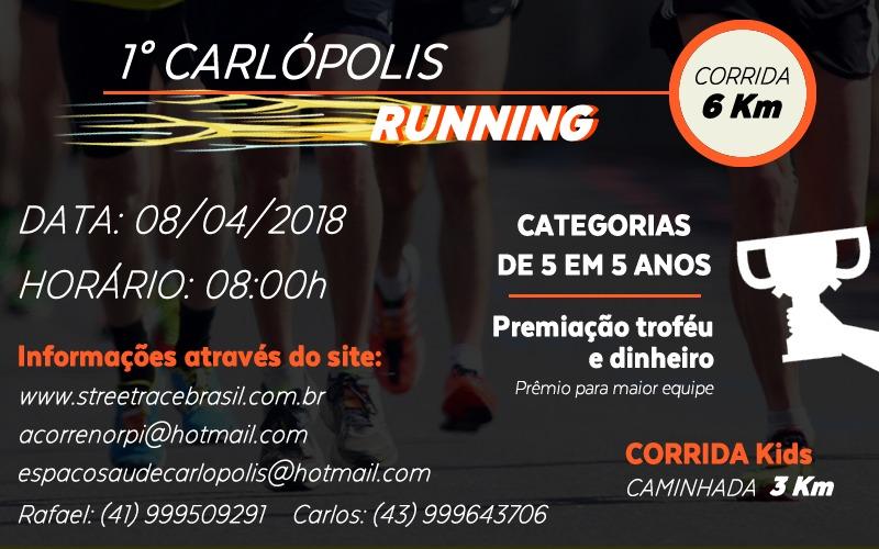 1ª CORRIDA CARLÓPOLIS RUNNING